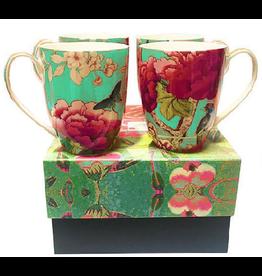 Anna Chandler Design Mug Set – Chinoiserie Turquoise