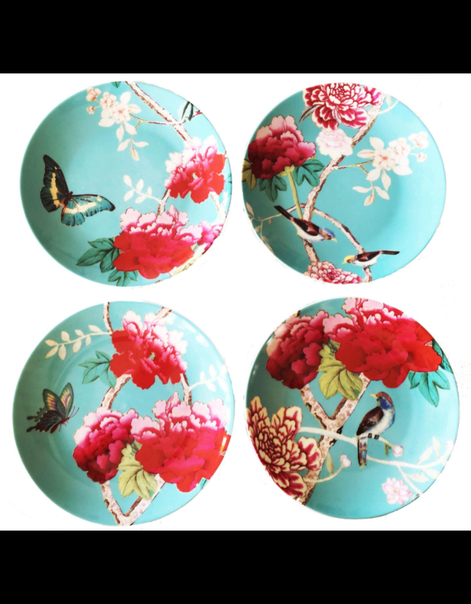 Anna Chandler Design Dessert Plate Set – Chinoiserie Aqua