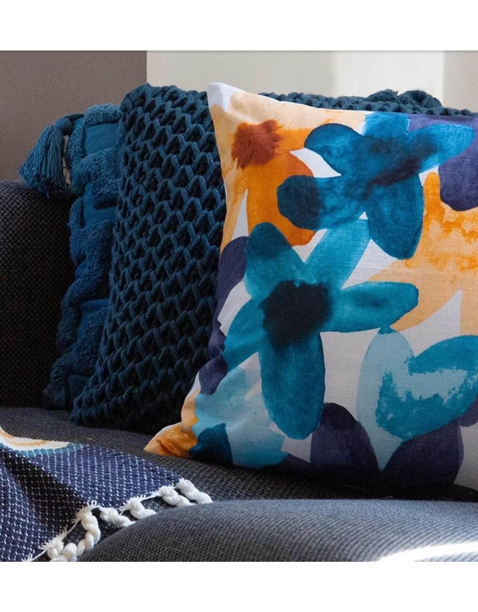 Bloom Cushion Teal 50 x 50