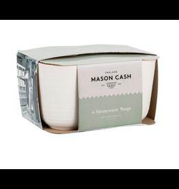Mason Cash Wm White Set of 4 Mugs
