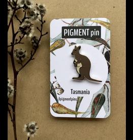 Bennett's Wallaby LAPEL PIN Tassie Kangaroo Tasmanian Collection Pigment Pins