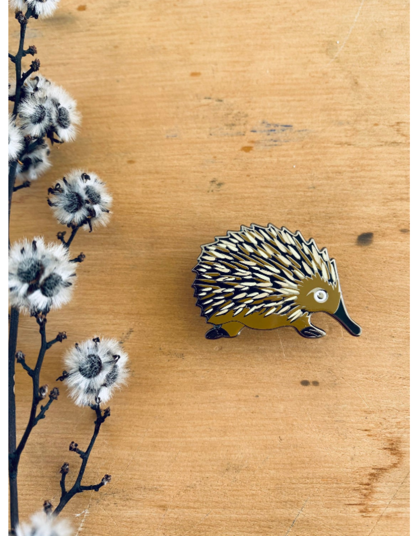 Echidna Lapel Pin Tassie Monotreme Tasmanian Collection Pigment Pins