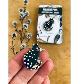 Black Spotted Quoll Marsupial Tasmania Icons Collection Pigment Pins