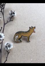 Thylacine Tassie Tiger LAPEL PIN Tasmanian Collection Pigment Pins