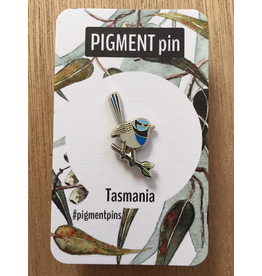 Enamel LAPEL PIN Blue Wren Bird Tassie Icons Collection Pigment Pins