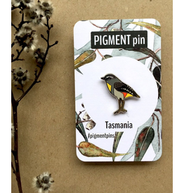 Spotted Pardalote LAPEL PIN Bird Tassie Icons Collection Pigment Pins