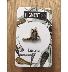 Enamel LAPEL PIN Black Cockatoo Tasmanian Icons Collection Pigment Pins