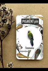 Green Rosella LAPEL PIN Bird Tasmania Parrot Tassie Icons Collection Pigment Pins