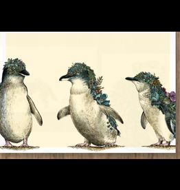Postcard - Penguin Parade