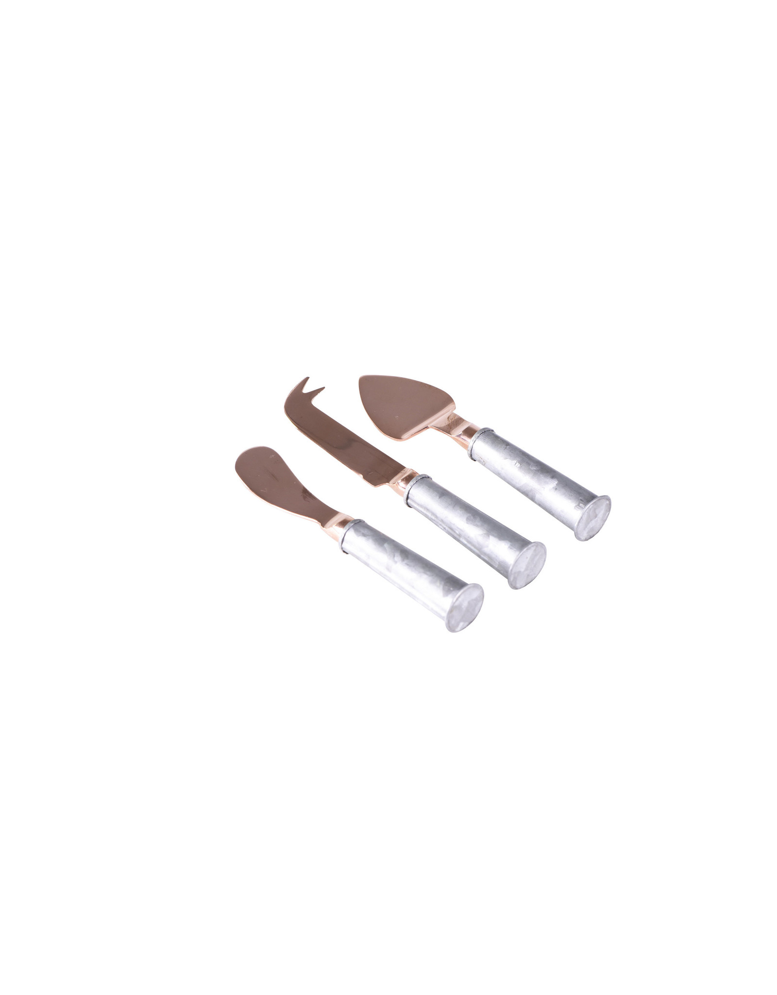 Wilkie Brothers Wilkie 3 Pce Cheese Knife Set with Rose Gold Handle