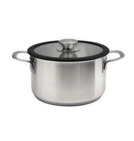 Omega Omega Casserole 20cm Stainless Steel with Glass Lid