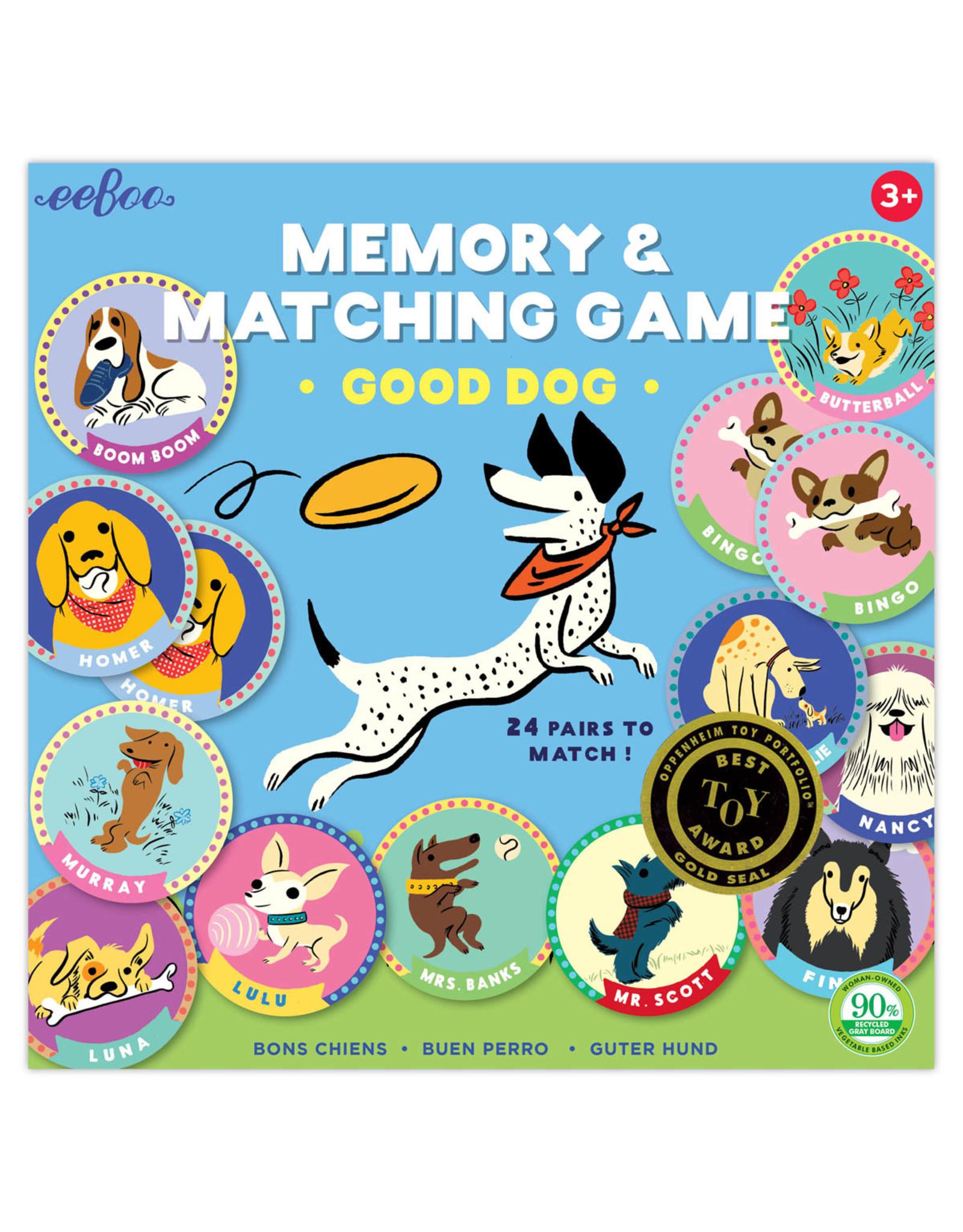 eeBoo eeBoo Memory Match Game – Good Dog
