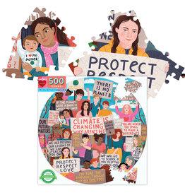 eeBoo eeBoo 500 Pc Round Puzzle – Climate Action