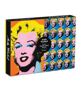 Galison Galison 500 Pc Double-Sided Puzzle – Warhol Marilyn