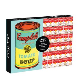 Galison Galison 500 Pc Double-Sided Puzzle – Andy Warhol Soup Cans