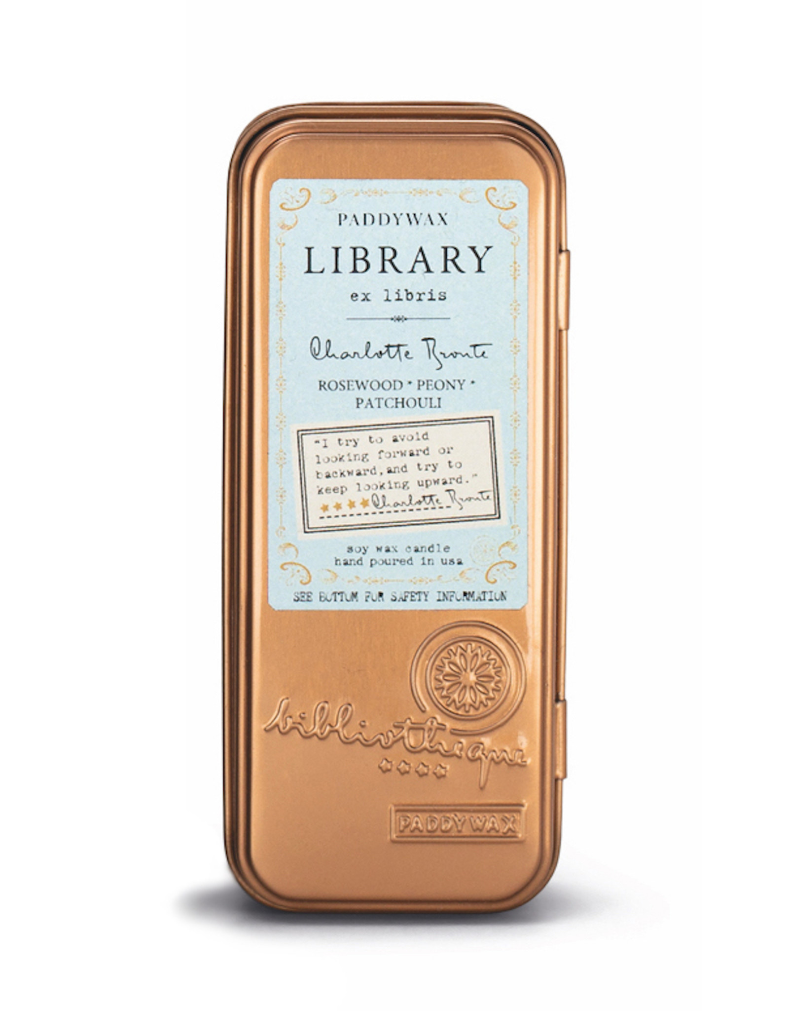 Paddywax Library 2 Wick Rectangular Travel Candle