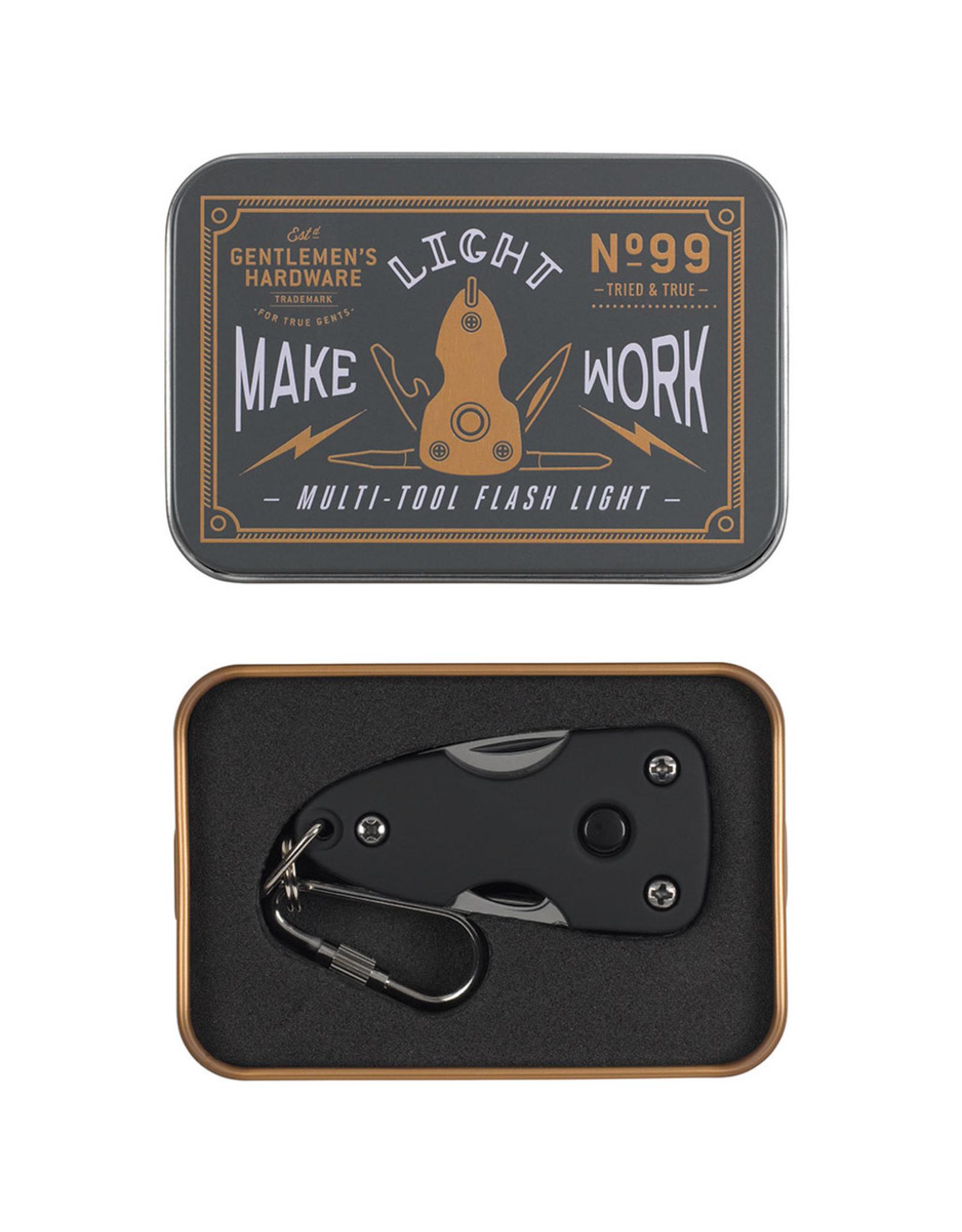 Gentlemen's Hardware Pocket Multi-Tool with Flashlight