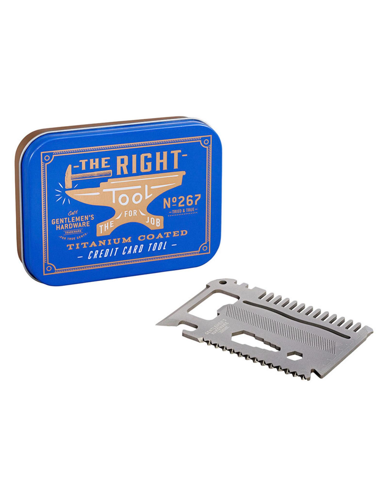 Gentlemen's Hardware Credit Card Tool Titanium
