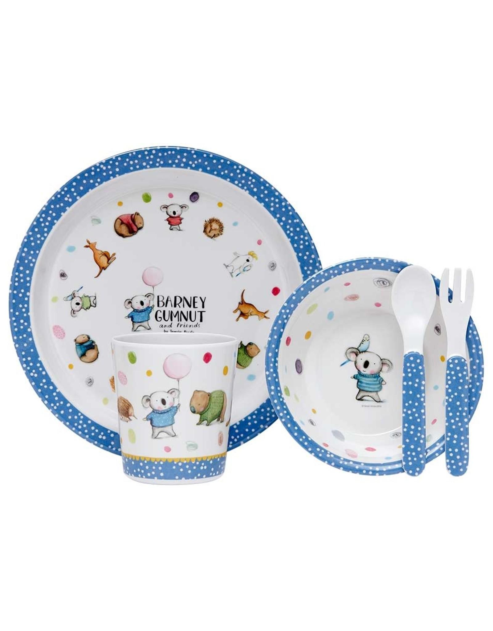 Ashdene Barney Gumnut & Friends 5 Piece Kids Dinner Set
