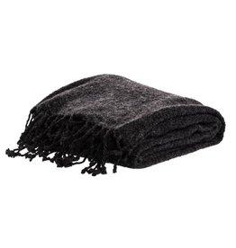 Nood Mellor Weave Throw Dark Grey
