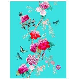 Anna Chandler Design Tea Towel Turquoise Birds
