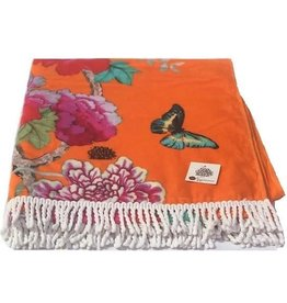 Anna Chandler Design Beach Towel Orange Bird