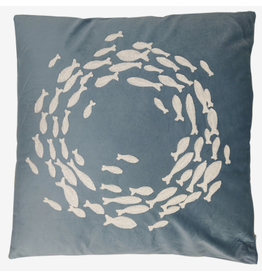 Onda Reed Velvet Embroided Cushion
