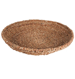 Fraser Seagrass Round Tray with Iron Frame