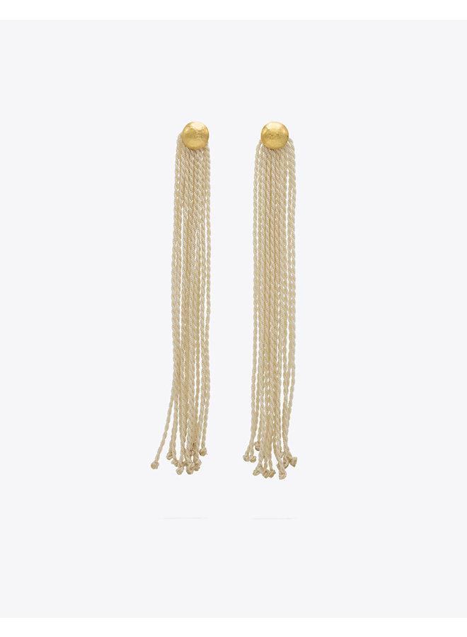 Mariposa Arana Earrings in Ivory