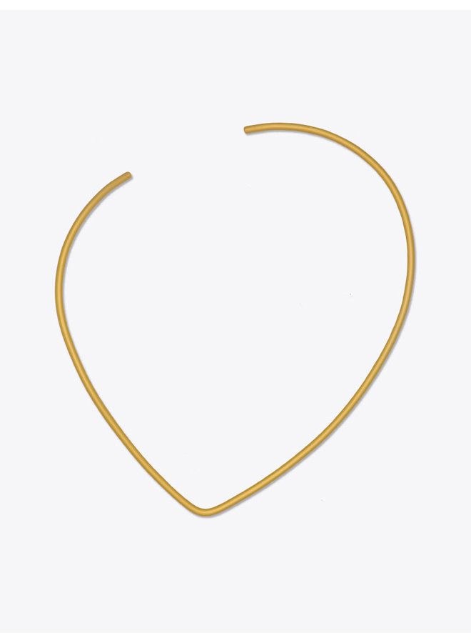 Connect Off Center Wire Necklace Golden