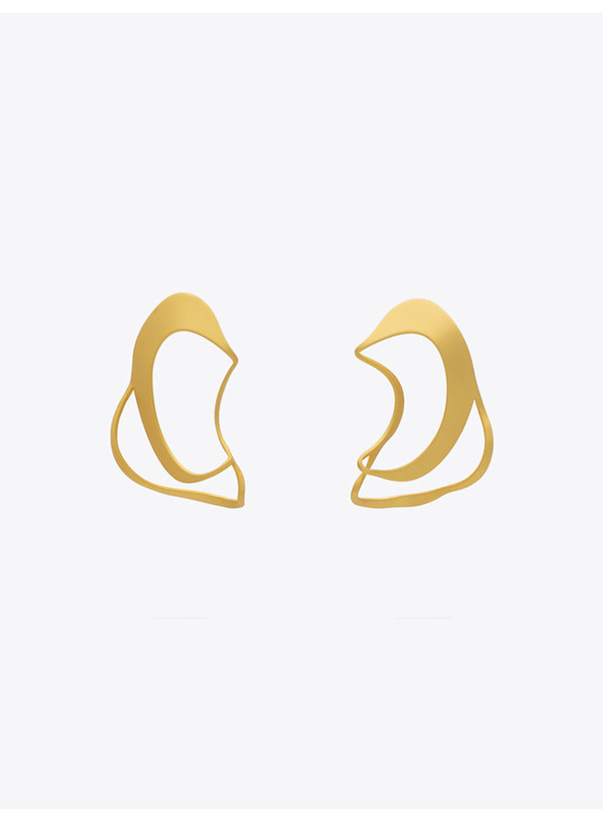 Connect Seed Earrings L Golden