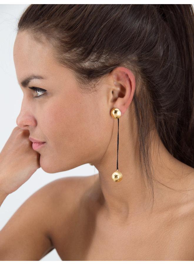 Escarabajo Earrings  Black