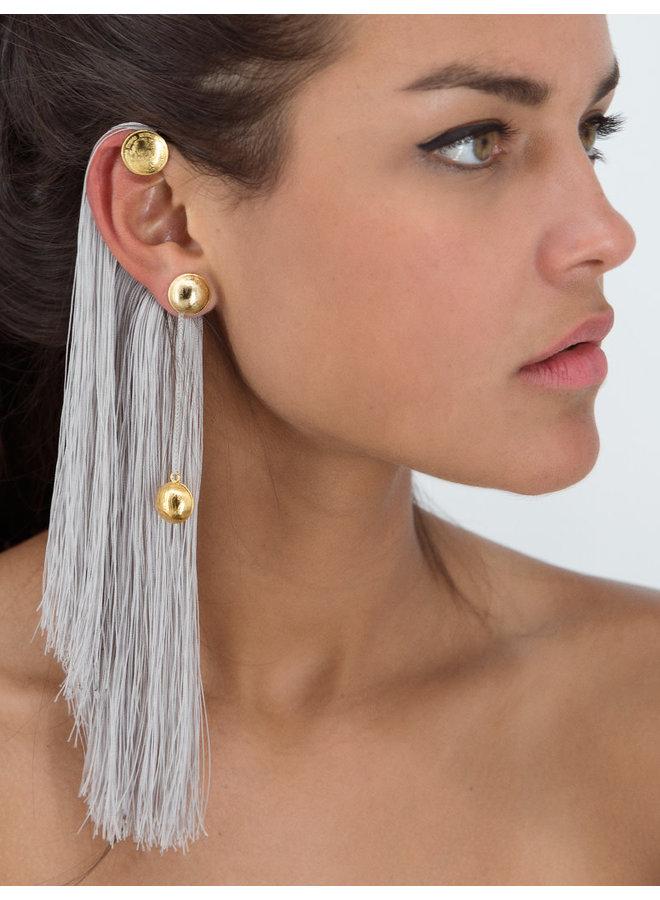 Escarabajo Earrings  Gray