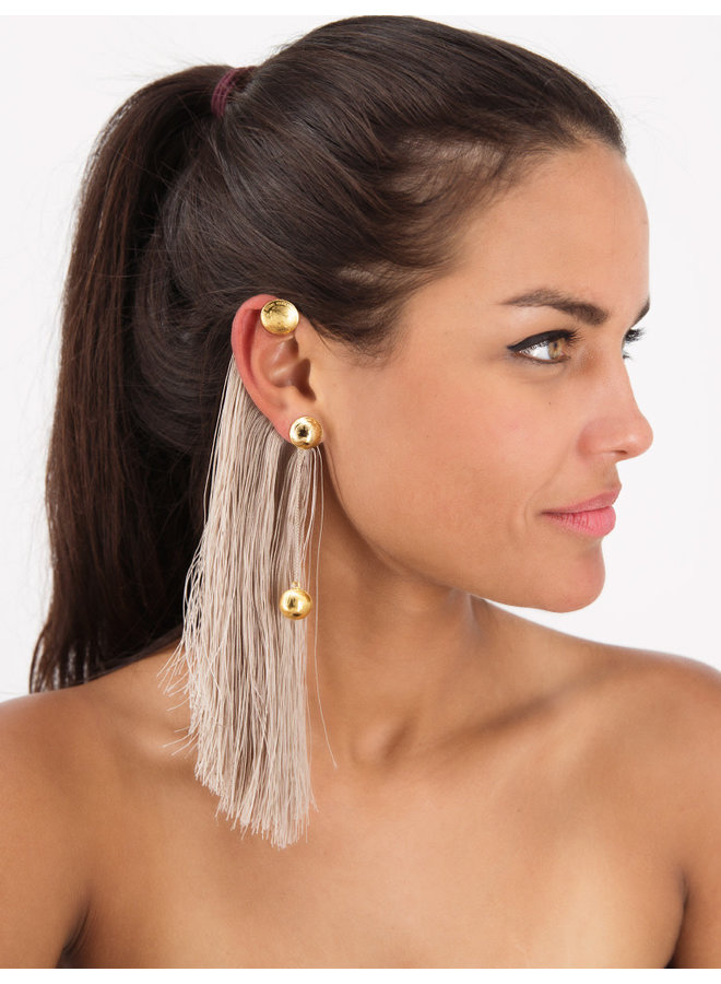 Escarabajo Earrings  Sand