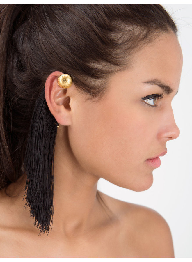Faisan Ear Cuff in Black