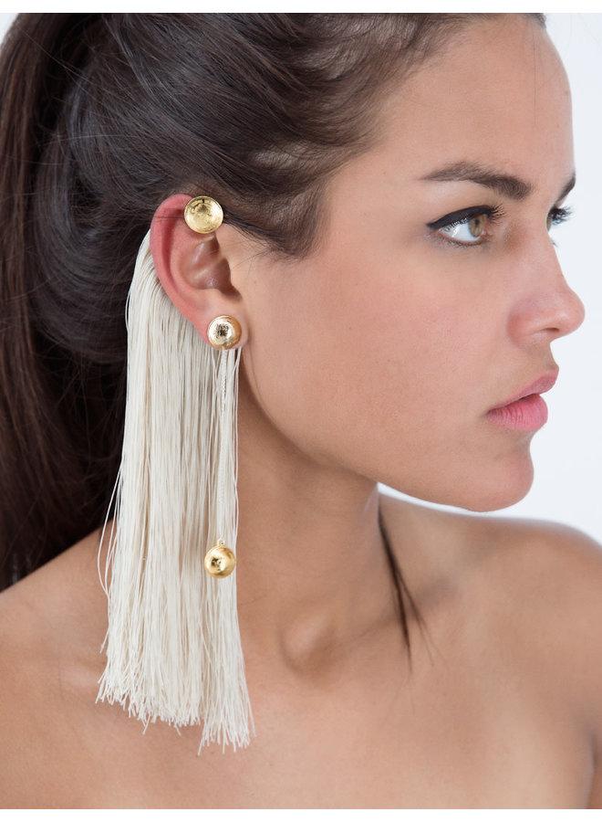 Right Faisan Ear Cuff  Cream