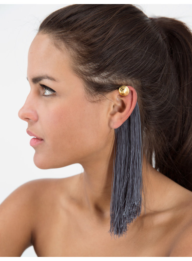Faisan Ear Cuff in Oxford Blue