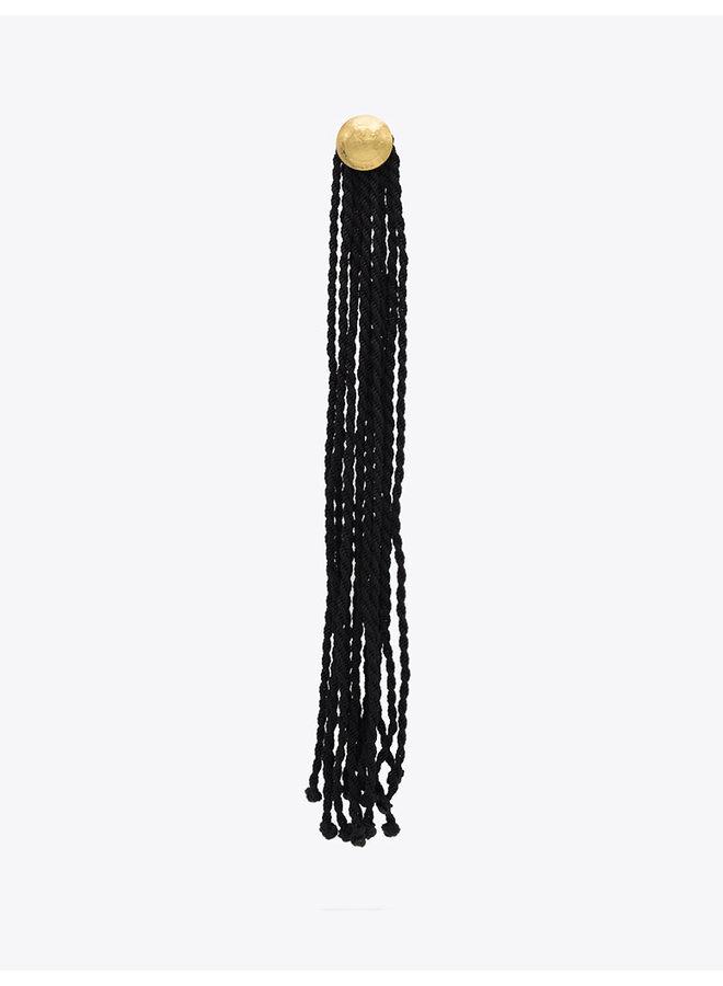 Mini Arana Earrings in Black
