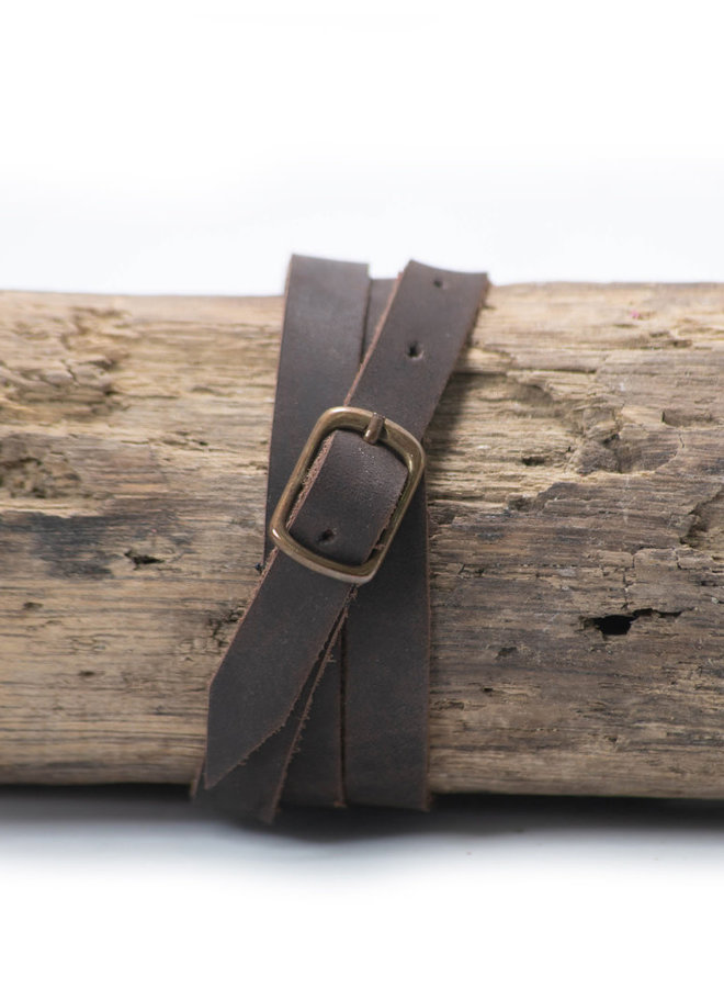 Leather Bracelet in Chocolate