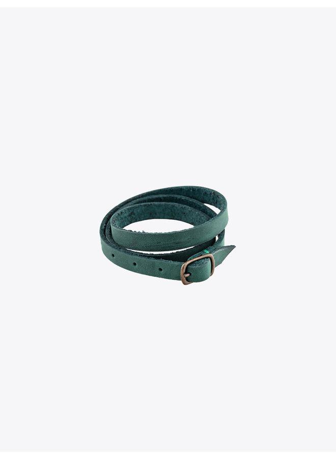 Leather Bracelet Green