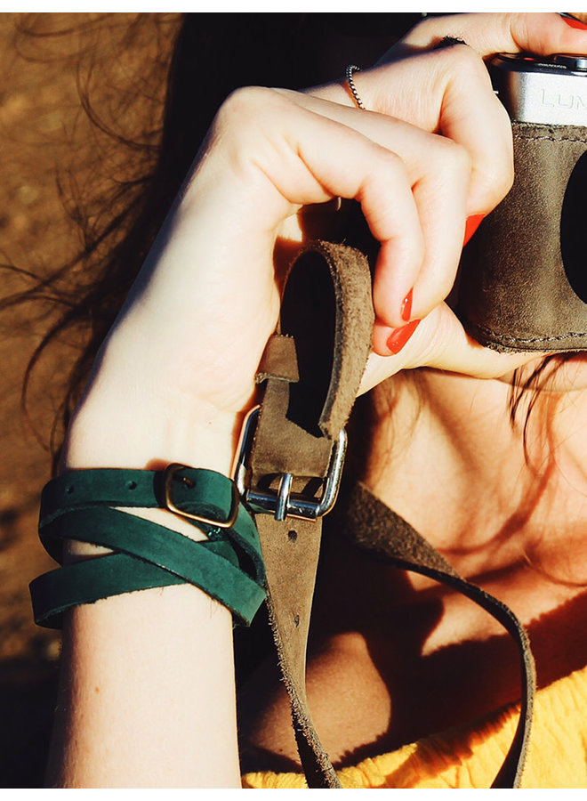 Leather Bracelet Green
