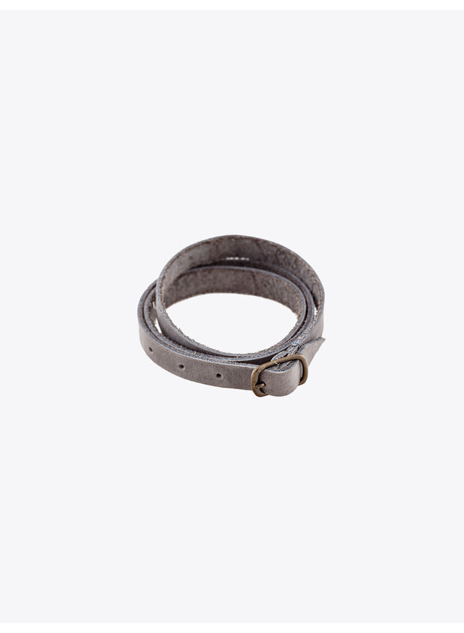 Leather Bracelet Gray