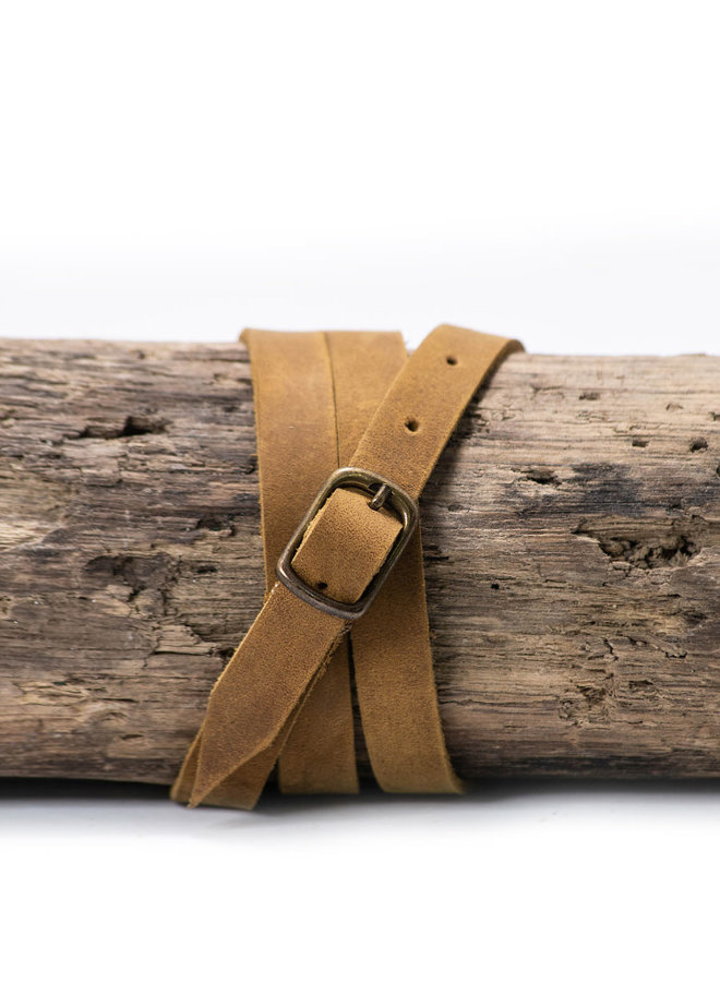 Leather Bracelet in Tobacco
