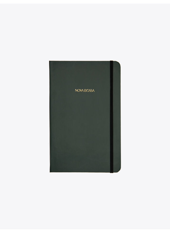 Hard Cover Notebook with Green Cover