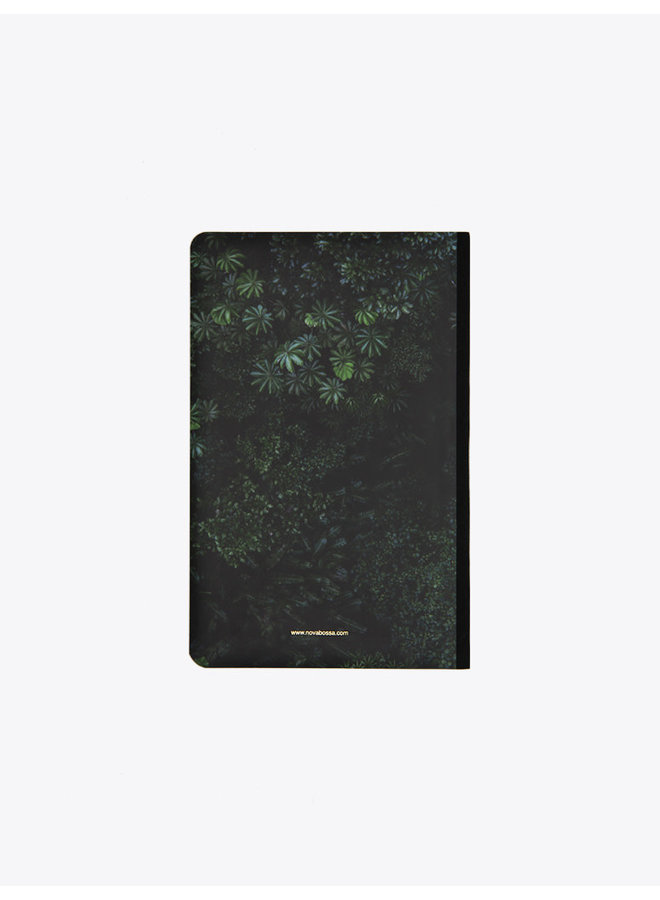 Handcrafted Soft Cover Notebook  Leaves