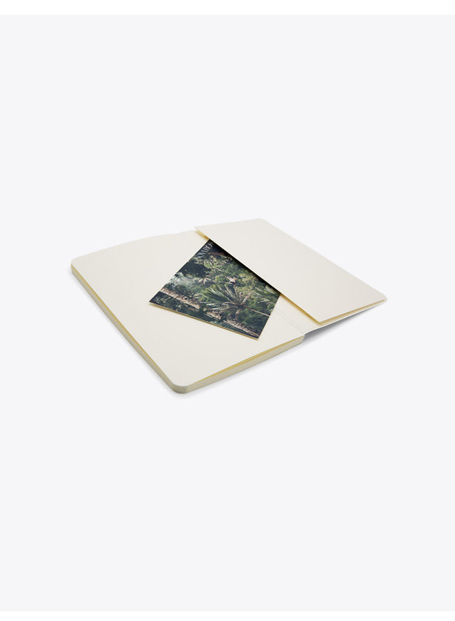 Soft Cover Notebook with Leaves Cover