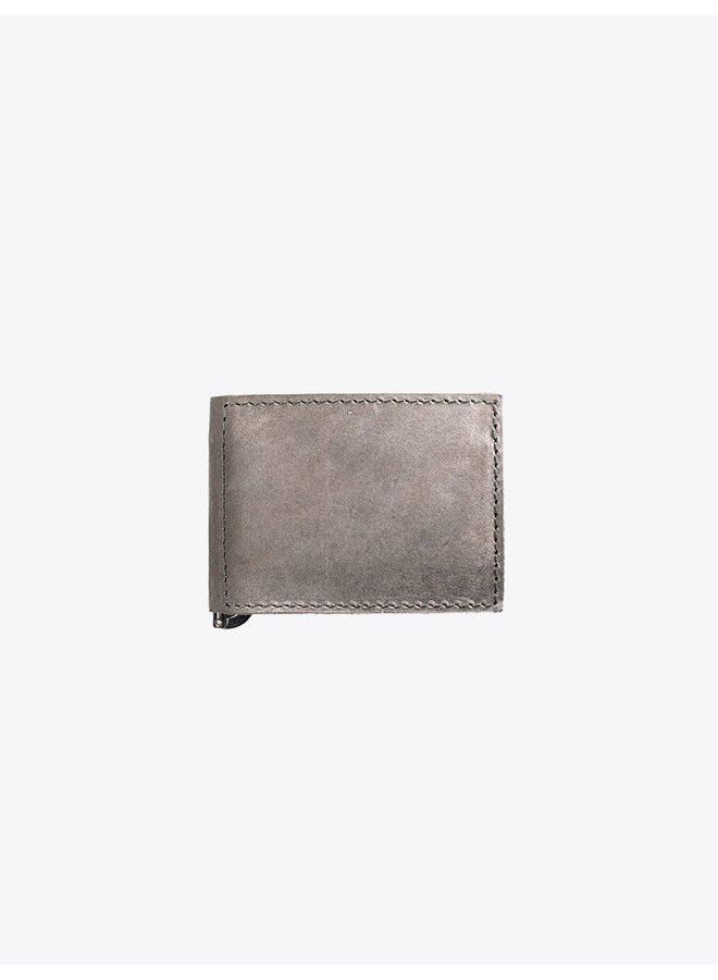 Leather Wallet in Gray