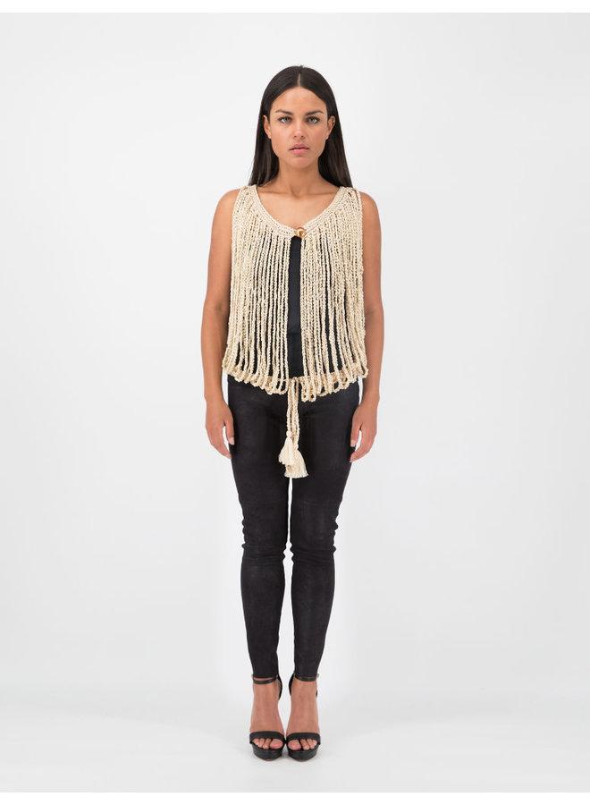 Arana Vest in Cream
