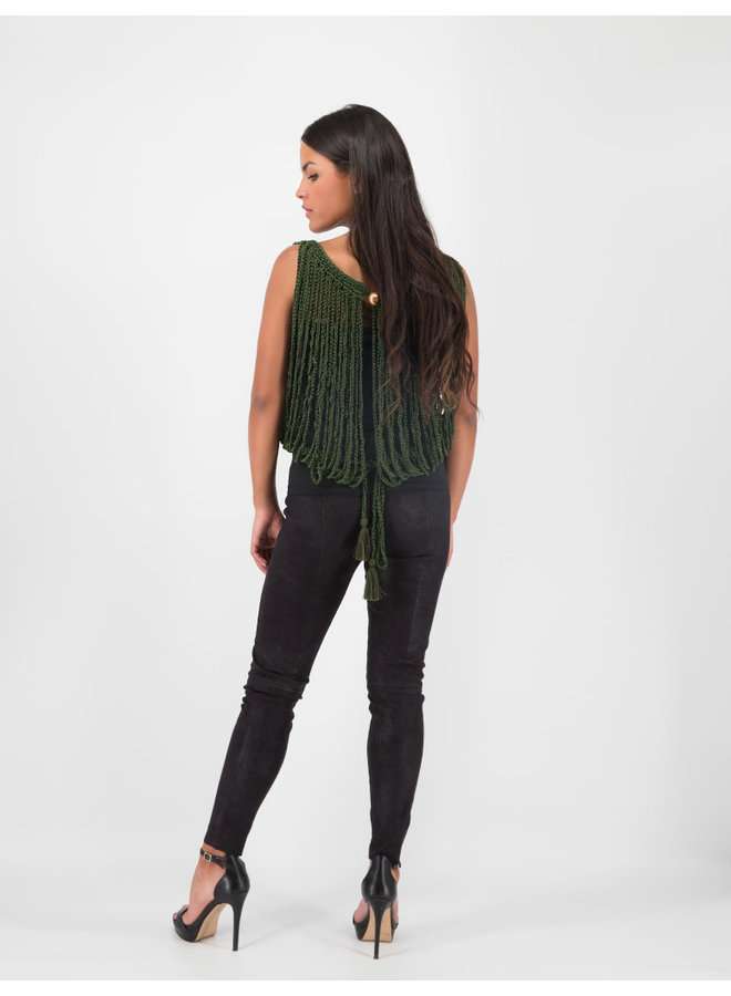 Arana Vest in Green