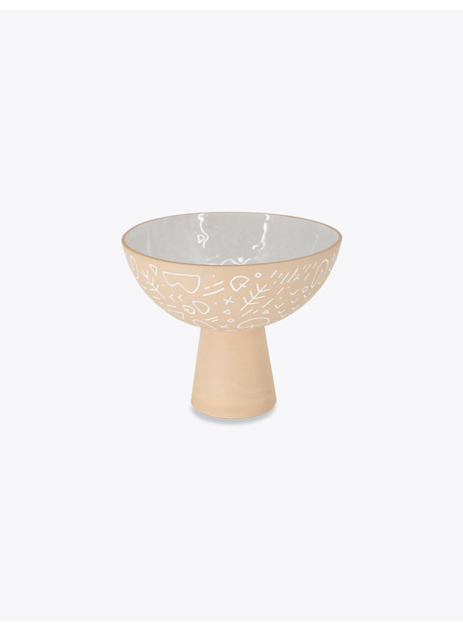 Tribes Pedestal Bowl